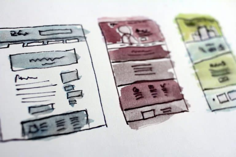 website design sketches